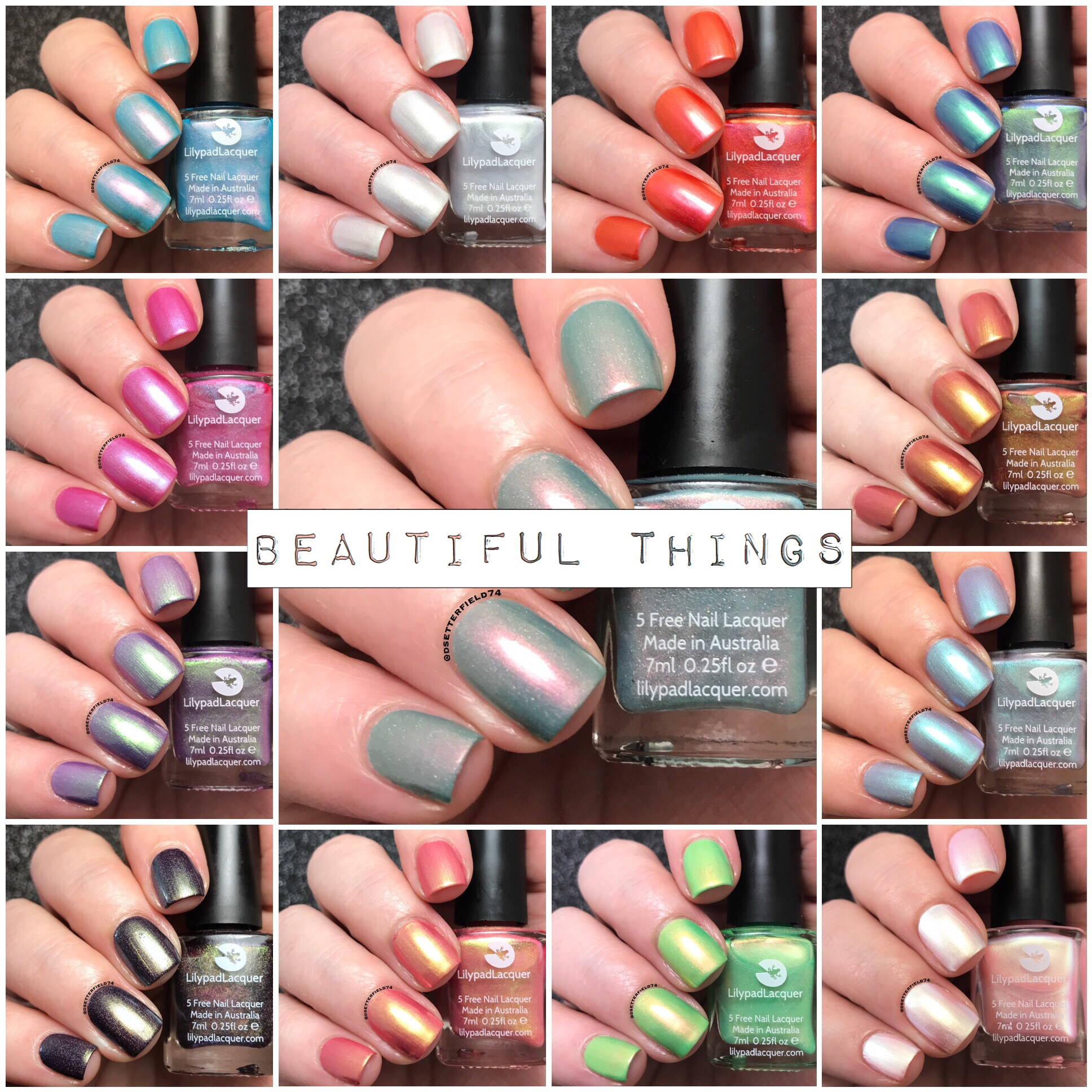 Lilypad Lacquer: Beautiful Things Collection   Snacks On Rotation